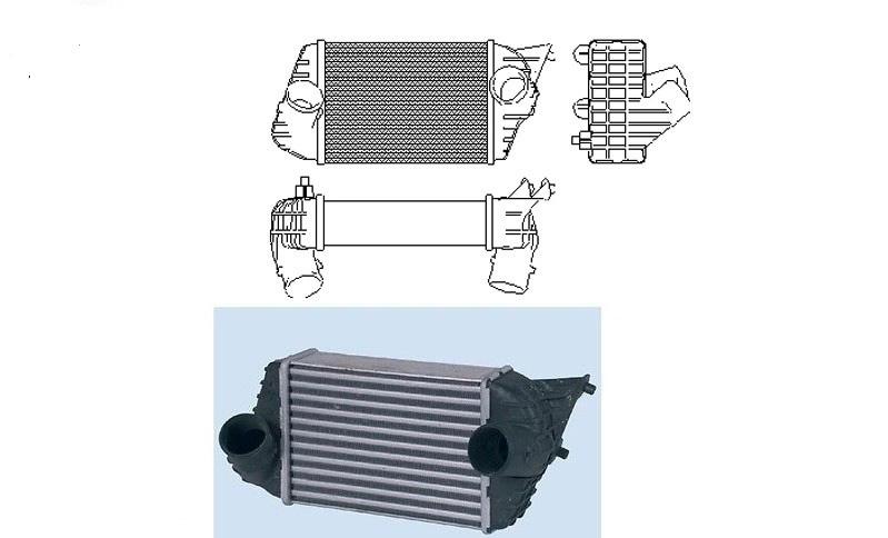 refroidisseur changeur air air turbo fiat stilo 0000046745841. Black Bedroom Furniture Sets. Home Design Ideas