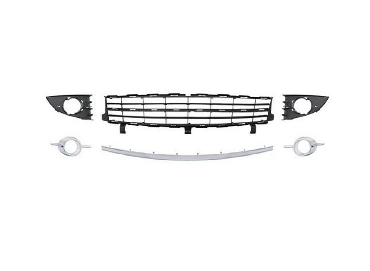 kit grille pare chocs avant argent renault scenic 7701477303. Black Bedroom Furniture Sets. Home Design Ideas